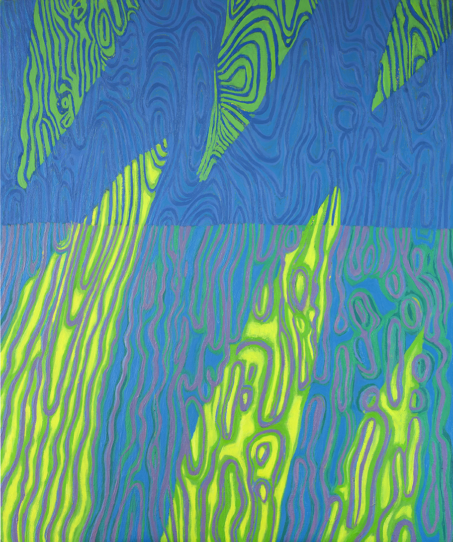 Pejzaż zawirowany-4, 120x100 cm