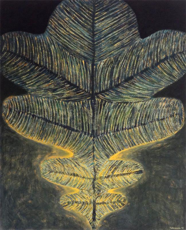 Wielki liść-3, 100x80 cm