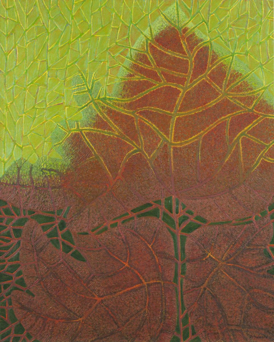 Trzy liście, 100x80 cm
