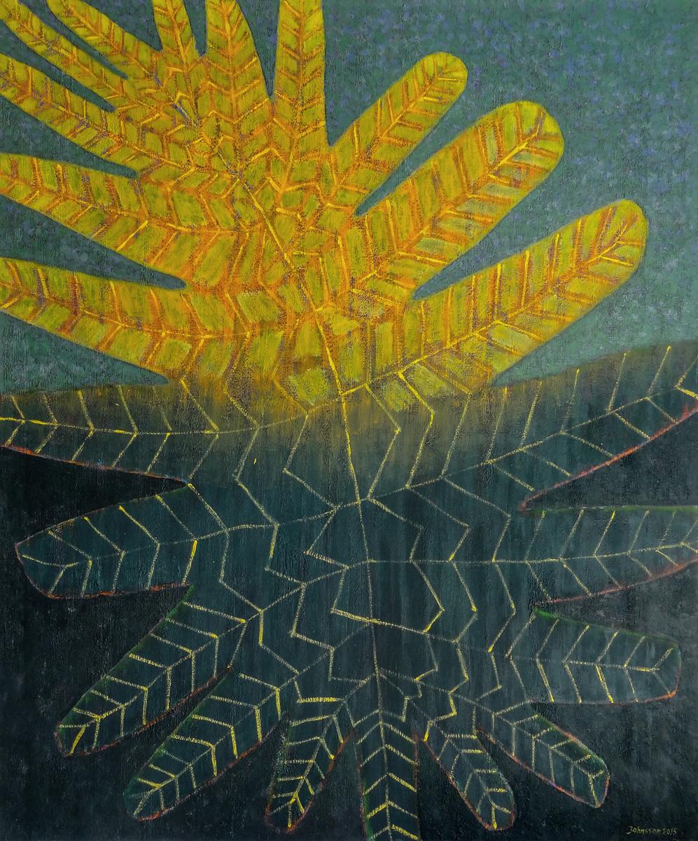 Great leaf-1, 100x80 cm