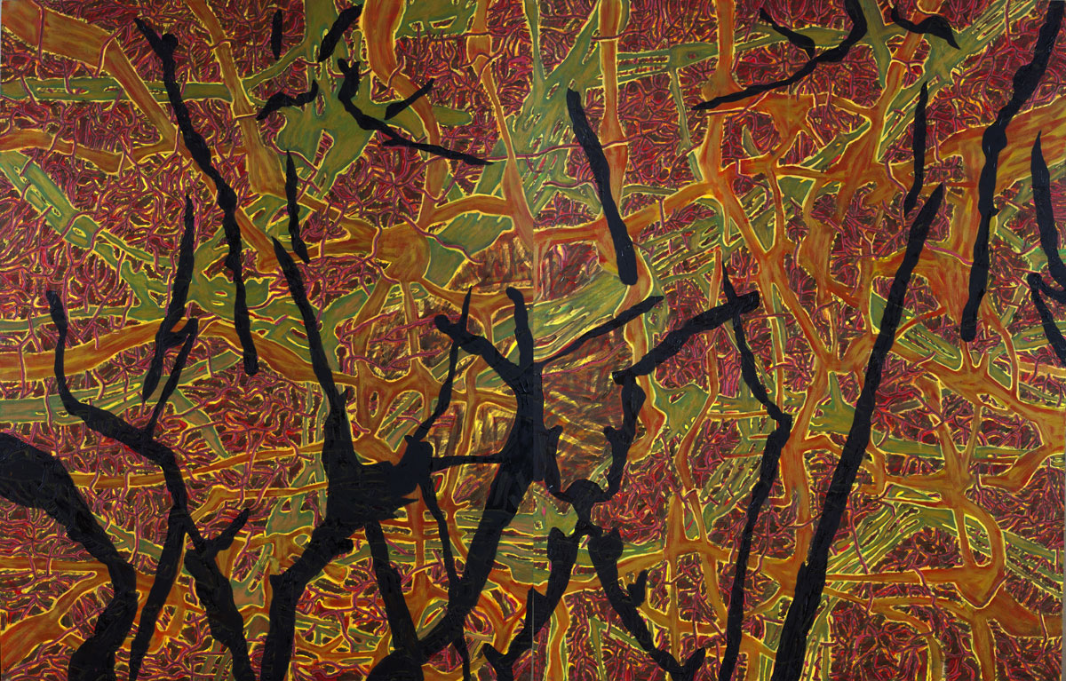 In forest, 2 x 140x110 cm/diptich