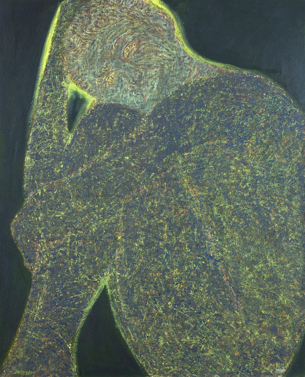 He, oil canvs, 100 x 80 cm