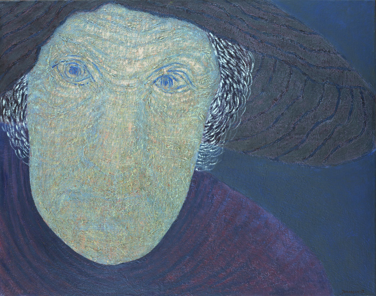 Woman in hat, oil canvas, 73 x 92 cm