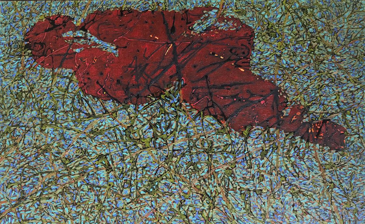 Tangled-2, 80 x130 cm