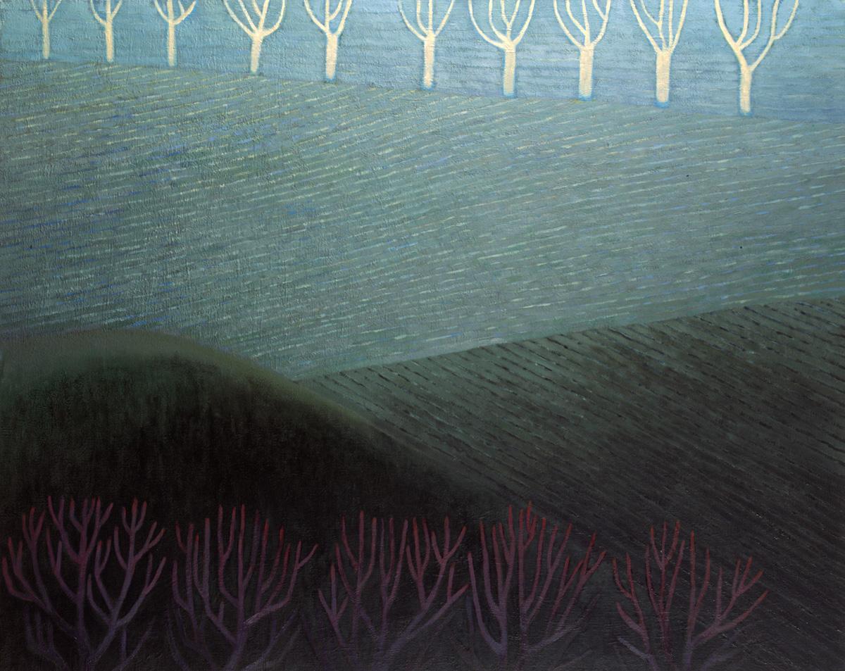 Pejzaż z drzewami, 95x120 cm